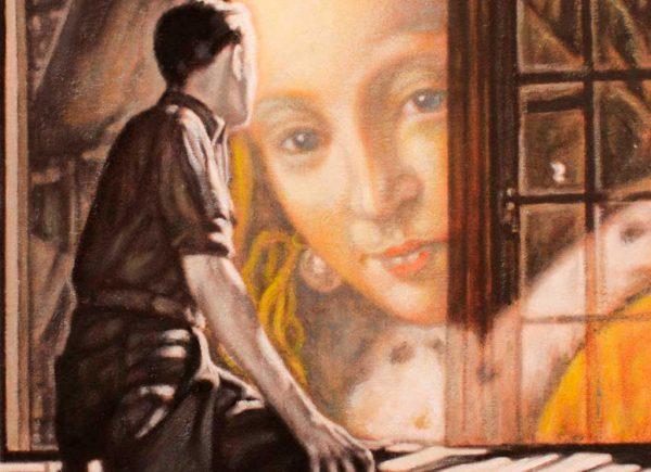 Juan Antonio Mañas - Habitación con vista - 12 x 12 cm Óleo sobre papel 2014