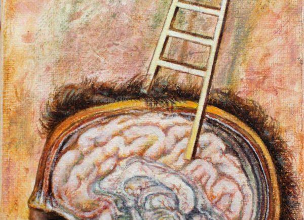 Juan Antonio Mañas - Inteligencia - 16 x 12 cm Óleo sobre tela 2014