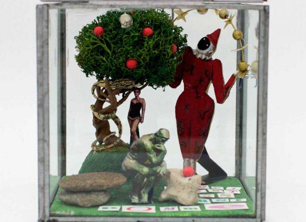 Brigitte Szenczi - El árbol del bien y del mal - 13,5 x 13,5 x 13,5 cm, Escultura 2014